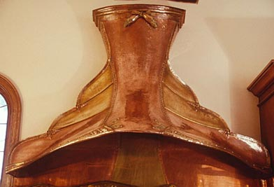 "Kitchen Hood ""Nouveau Mediterranean"" by E. A. Chase Metalsmithing"
