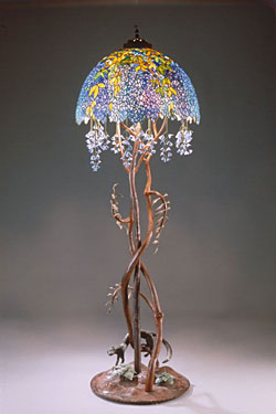 """Wisteria"" Floor Lamp by E. A. Chase"